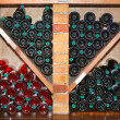Stock Photo: Counter with wine bottles