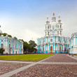 View on Smolnyi cathedral (Smolny Convent) St. Petersburg — Stock Photo #8982222
