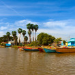 Stock Photo: Jamaica. National boats on Black river