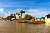 Jamaica. National boats on the Black river — Stock Photo