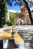 Greece. Rhodes. A man's monastery of sacred Nektary. — Stock Photo