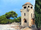 Klooster gelegen op de berg van een filerimos — Stockfoto