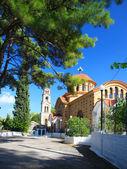 Greece. Rhodes. A man's monastery of sacred Nektary — Stock Photo