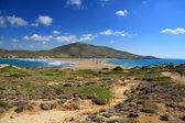 """Greece. Rhodes. Prassonisi - """"the Kiss of two seas"""" — Stock Photo"""