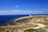 Greece. Rhodes. A beacon of Prasonisi. — Stock Photo
