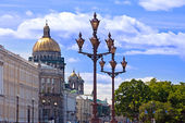 Russia. Petersburg. A view on the Isaakievsky Cathedral — Stock Photo