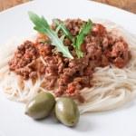 Spaghetti alla bolognese — Stock Photo #8508059