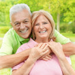 Stock Photo: Happy senior woman and man