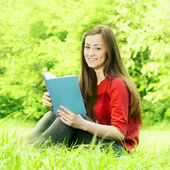 Smiling young student — Stock Photo