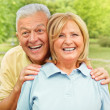 Happy senior woman and man — Stock Photo