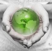 Cuide-se sobre o planeta verde — Foto Stock
