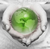 Take care about green planet — Stock Photo
