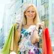 Attractive shopping woman - Foto Stock