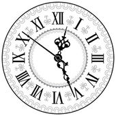 Antique clock — Stockvector