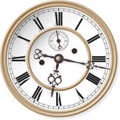 Antique clock. — Stockvector