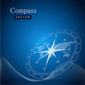 Black compass — Vettoriale Stock