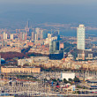 Aerial view of Barcelona from Montjuic — Stock Photo
