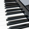 Closeup of Electronic Piano Keyboard — Stock Photo