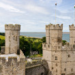 Caernarfon castle in Snowdonia, Wales — Stock Photo #9088453