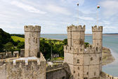 Caernarfon castle in Snowdonia, Wales — Stock Photo
