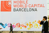 Barcelona, españa - 25 de febrero: el gsma mobile world congress — Foto de Stock