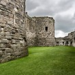 Beaumaris Castle walls on the Isle of Anglesey in North Wales — Stock Photo