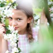 Beautiful Spring Girl with flowers — Stock Photo
