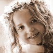 First Communion - portrait sepia — Stock Photo #10570665