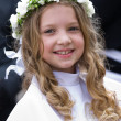 First Communion - smiling girl — Stock Photo