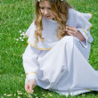 First Communion and daisies — Stock Photo