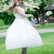 First Communion - happy dance — Stock Photo