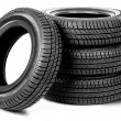 Tires on the white background - Photo