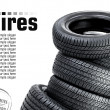Tires on the white background — Stock Photo #9483673
