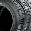 Stock Photo: Tires on white background