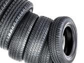 Pyramide of tires — Stock Photo