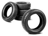 Reifen auf dem weißen hintergrund — Stockfoto