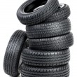Stock Photo: Seven tires