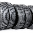 Tires on the white background — Stock Photo #9702706