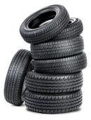 Siete neumáticos — Foto de Stock