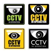 Cctv in operation — Stok Vektör