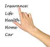 Insurance list — Stock Photo