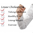List to lower cholesterol — Stock Photo #10057807