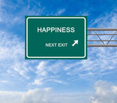 Road sign to happiness — Stock Photo