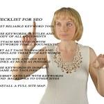 Presentation of SEO checklist — Stock Photo #10212664