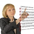 Presentation of SEO checklist - Stock Photo