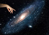 Pointing to our galaxy.Elements of this image furnished by NASA — Stockfoto