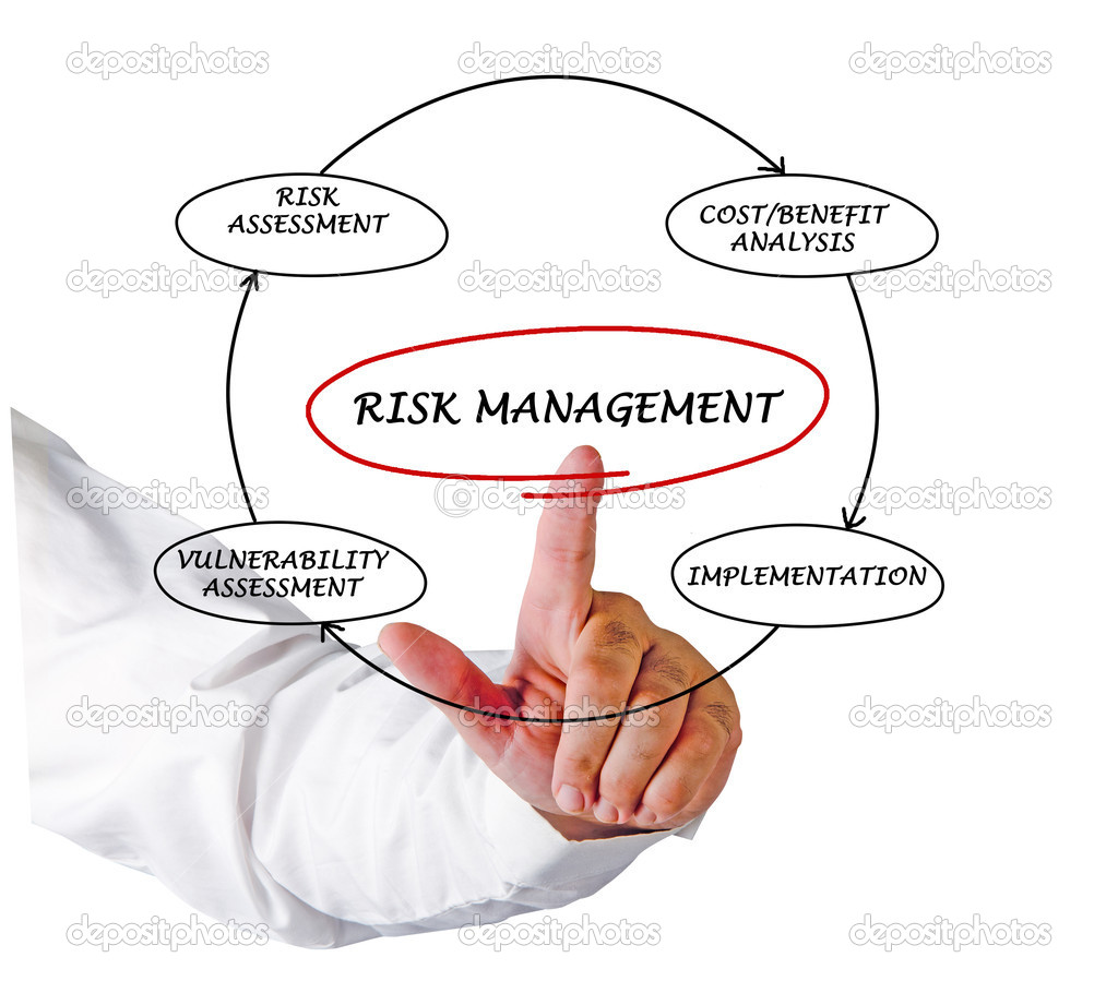 Diagram of risk manager — Stock Photo #8056344
