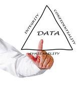 Principerna för datahantering — Stockfoto