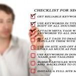 Presentation of SEO checklist — Stock Photo