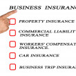 Check list for business insurance — Stock Photo